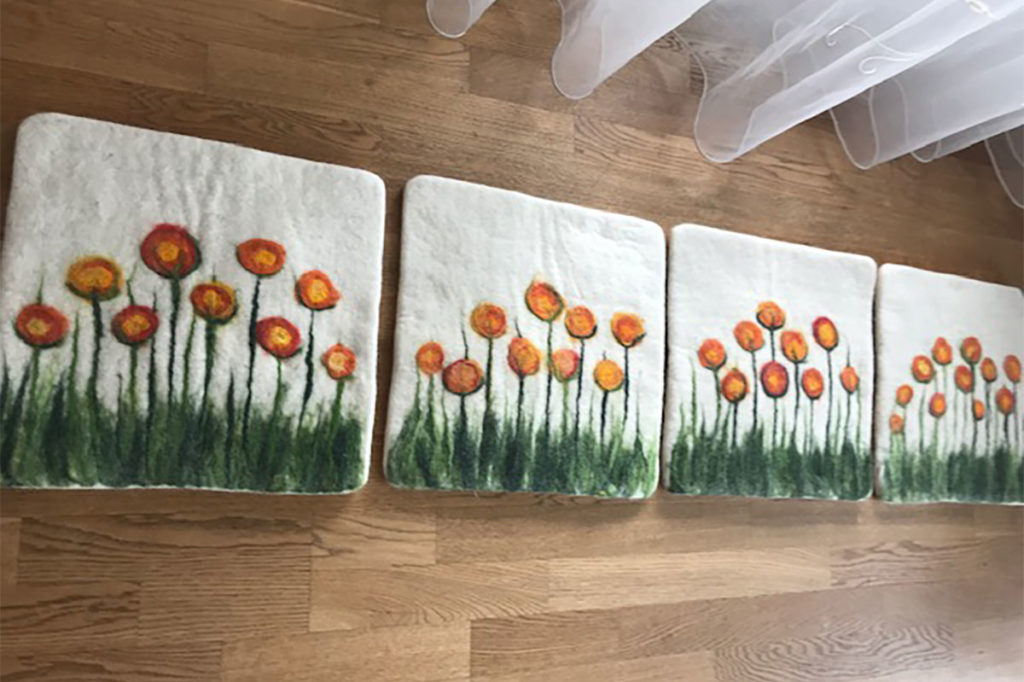 naturorange-Blumen